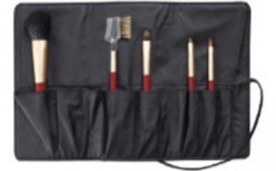 [№5809-0499]熊野化粧筆セット 筆の心 ブラシ専用ケース付き(82K-3)