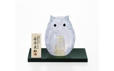 石塚硝子製 白フクロウ