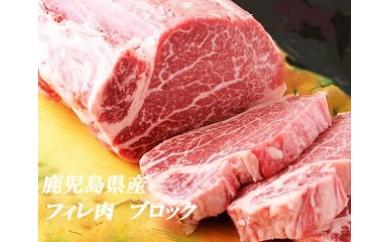 【E01001】鹿児島県産黒毛和牛ヒレ肉 ブロック
