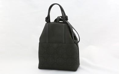 H9-K 古都印伝 カジュアルバッグ(黒) 【ショルダーバッグにも】