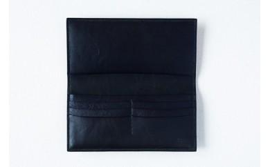 030-002 本藍染イタリアンレザーの長財布