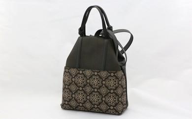 H9-S 古都印伝 カジュアルバッグ(黒白) 【2色使いの華やかさ】