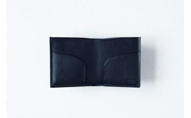 018-001 本藍染イタリアンレザーの二つ折札入れ
