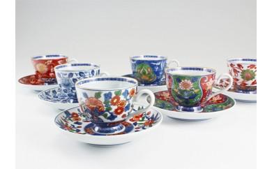 A1000-15 源右衛門窯 古伊万里風絵変り 碗皿・皿