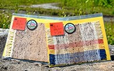 [№5633-0001]手紡ぎ ぜんまい綿毛コースター (A)