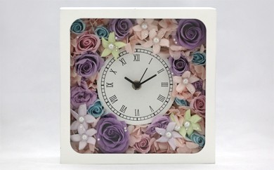 G16 プリザーブドフラワーの花時計☆人気のパステルKAWAIIカラー☆