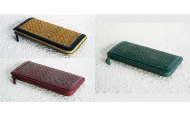 【K】網代編み 籐使いの長財布