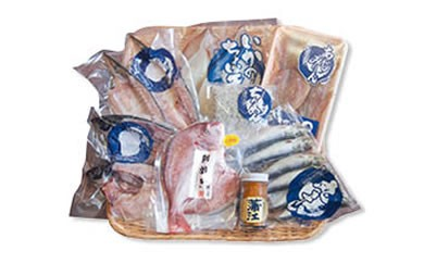 【BQ70】明治35年創業の老舗海産物問屋選りすぐり「至福の干物セット緑」【16,000pt】
