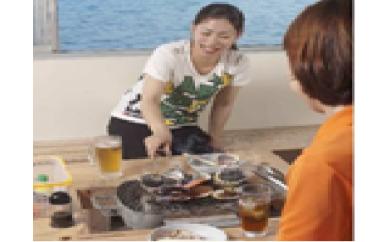☆人気の焼小屋豪華満腹コース☆海を眺めながらの絶品魚介類をどうぞ!