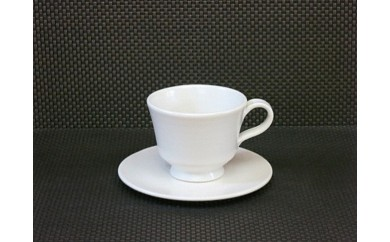 AJ01.圓平窯の陶器(白釉コーヒーカップ)
