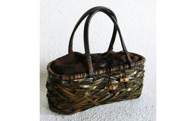 【M】やたら編み 竹のカゴバッグ