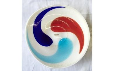 17503.肥前び~どろ金彩大皿「炎」
