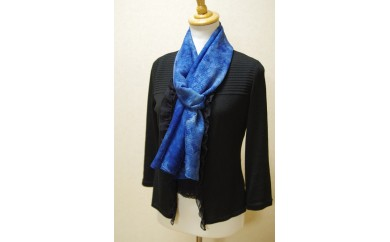 【N-50】「絽紗-ROSHA-」色の重なりを楽しむ藍染めストール