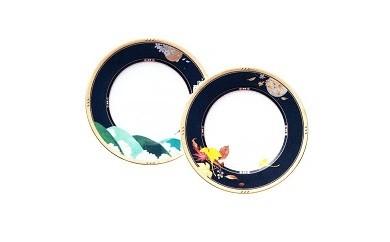 O-1 四季彩舞曲27cmプレートペアセット【桜・吹寄せ】