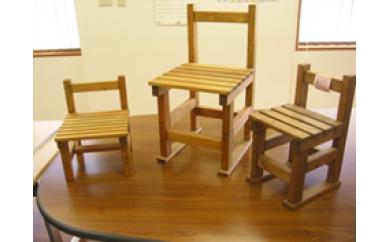 【U021】使い方いろいろ 椅子型飾り台 3個セット【76pt】
