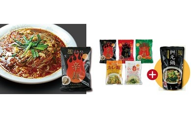 (E-12)元祖辛麺 桝元 生麺パック5食+鍋スープセット
