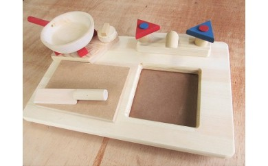 D-062 手作り木製 卓上ままごとキッチンRBM