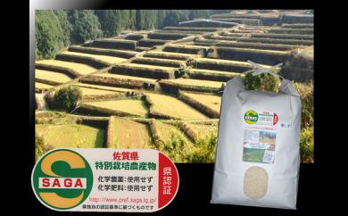 b-4 佐賀県特別栽培・棚田米(夢しずく)3kg(玄米変更可)栽培期間中 農薬・化学肥料不使用
