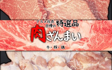 N6 ★グルメ社長百貨★肉三昧コース~牛・豚・鶏の社長自慢の特選品(12回コース)
