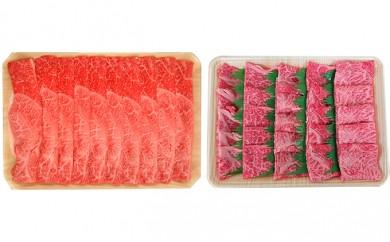 [№5787-0110]5等級 飛騨牛すき焼き&焼肉セット(各500g)