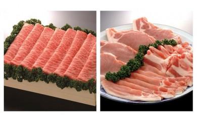 佐賀牛ロース焼しゃぶ・すき焼用500gと肥前さくらポーク詰合せセット