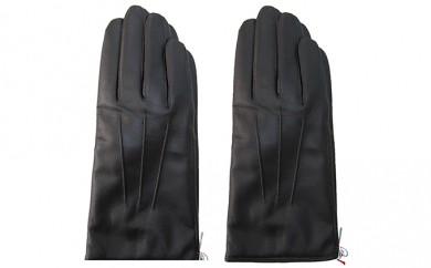 [№4631-7217]0954手袋 羊革 メンズ 濃茶 24cm