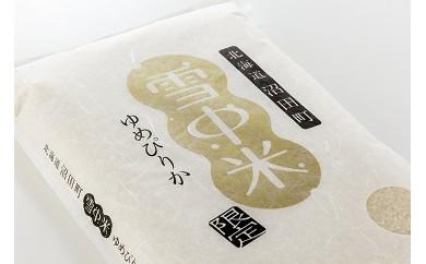 【40-2】雪中米(ゆめぴりか)定期便【11月~4ヶ月配送】