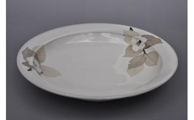 和紙染草花文カレー皿(1枚)