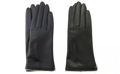 [№4631-7222]0956手袋 羊革 レディース 黒 20cm