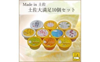 BB272 Made in アイス&シャーベット土佐大満足10個セット/ 高知アイス【750pt】