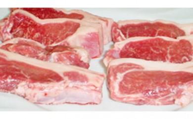 [№5894-0028]北海道 松山農場の羊のホゲット肉ステーキ用 350g×2