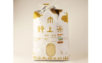 B453 野上耕作舎 野上米ヒノヒカリ 白米5kg