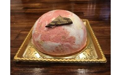 【ジェラート専門店から】ジェラートのケーキ(ストロベリー)