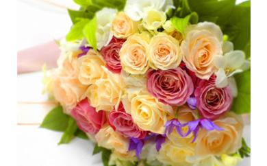 (487)ローズミックス50本の花束!ギフト用でどうぞ