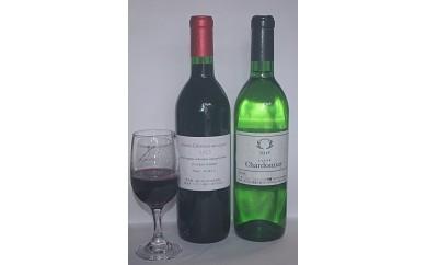 B0-120 自社農園ワイン厳選(赤・白)セットカベルネソーヴィニヨン&シャルドネ