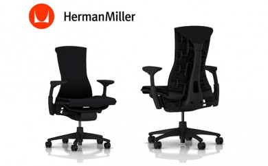 [№5809-0867]ハーマンミラー エンボディチェア オフィスチェア 椅子 グラファイトベース/グラファイトフレーム
