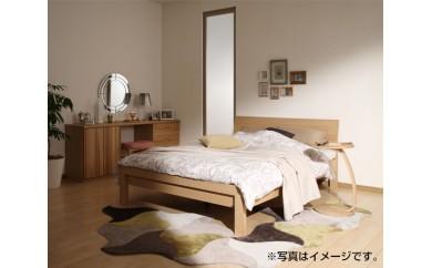 No.075 [カリモク家具]シングルベッド(マットレス付)