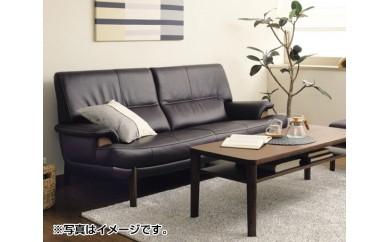 No.083 [カリモク家具]本革張りソファ C