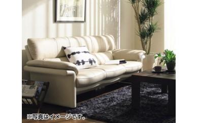 No.084 [カリモク家具]本革張りソファ D