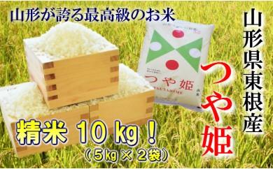 """A-217 29年産(30年5月送付分)東根産米""""つや姫精米""""5kg×2"""