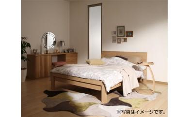 No.076 [カリモク家具]セミダブルベッド(マットレス付)