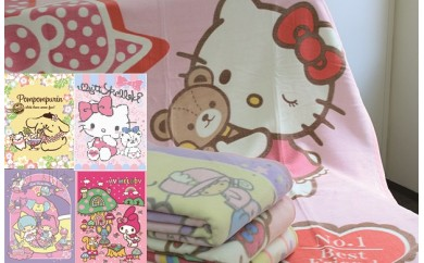 【D-3】人気キャラクターイラスト入り 綿毛布