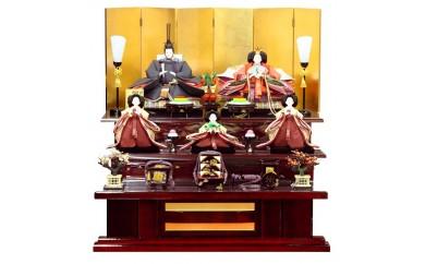 三段五人飾り・雅(正絹大島紬)