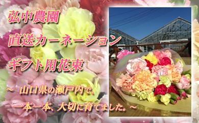 j10-3 弘中農園 直送カーネーションギフト用花束
