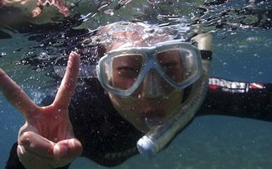 [№5691-0205]海の中をのぞいてみよう!シュノーケリング教室
