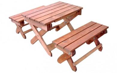 [№5766-0034]丸善木材のホクモクエクステリア『ガーデンテーブル』