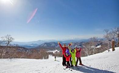 [№5886-0036]たんばらスキーパーク リフト1日券(大人2枚)