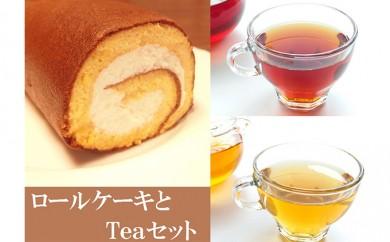 [№5809-0922]ロールケーキとTeaセット