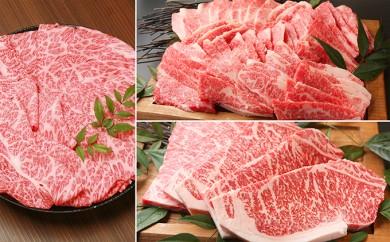 [№5748-0087]近江牛三昧セット(すき焼き・焼肉・ステーキ用約2.25kg)