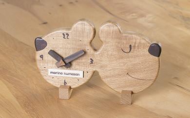 030-004 木製時計